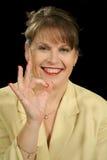 A OK Businesswoman Stock Photography