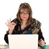 OK Businesswoman Royalty Free Stock Photo