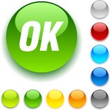 Ok button. Royalty Free Stock Photos