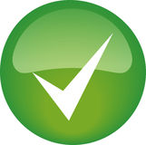 Ok Button. Green circle ok button to approve or accept Royalty Free Stock Photography