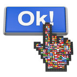 Ok! button Stock Images