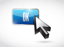 Ok button illustration design Stock Photography