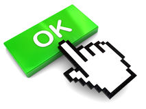 Ok button push Royalty Free Stock Image