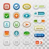 Ok button vector set. Stock Image