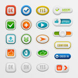 Ok button vector set. Stock Photography