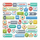 Ok button vector  Stock Image