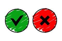 OK and cancel icon vector web button Stock Photo