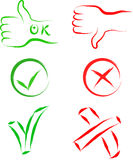Ok and cancel signs Stock Image