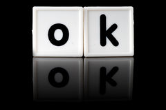 OK Concept Letters Royalty Free Stock Photo