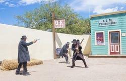 OK Corral gunfight royalty free stock photo