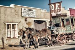 OK Corral Stagecoach nagrobek obraz stock
