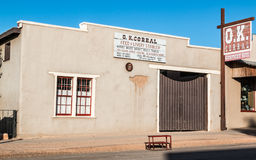 OK Corral Tombstone. The historic OK Corral in Tombstone, Arizona Royalty Free Stock Photos