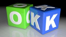OK cubes Stock Image
