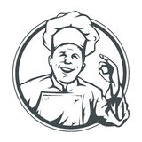 Ok d'exposition de cuisinier en boucle Photos libres de droits