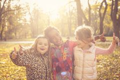 OK day. Kids in nature. royalty free stock photography
