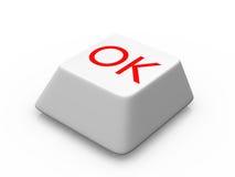 ok de bouton Photo stock
