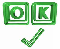 Ok de symbole Photo libre de droits