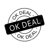 Ok Deal rubber stamp Stock Photo