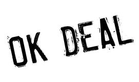 Ok Deal rubber stamp Stock Images