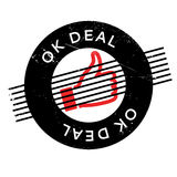 Ok Deal rubber stamp Stock Photography