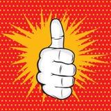 OK finger pop art  illustration Stock Photo