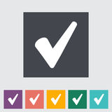 Ok flat icon. Royalty Free Stock Photography