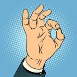 Ok gest Blå social medelhand från bärbar datorskärmen stock illustrationer