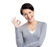 OK gesture Royalty Free Stock Photo