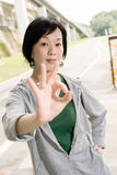 Ok gesture Royalty Free Stock Photography