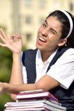 Ok Girl Student Wearing Uniform royalty free stock photography