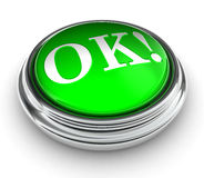 Ok green button Royalty Free Stock Images