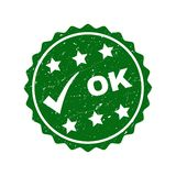 OK Grunge Stamp with Tick stock illustration