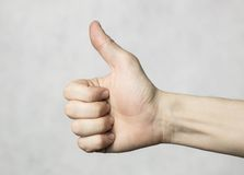OK hand gesture Stock Photography