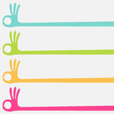Ok hand multicolor. Choice banner Stock Images