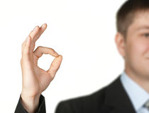 OK hand sign Stock Photos