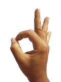 OK hand sign Royalty Free Stock Image