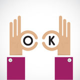 Ok hand sign. Business and vision concept. Company logo,hand Ok Stock Photos