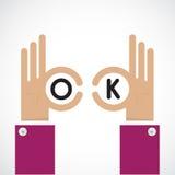 Ok hand sign. Business and vision concept. Company logo,hand Ok Stock Photos