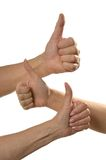 Ok hand sign isolated Royalty Free Stock Photos