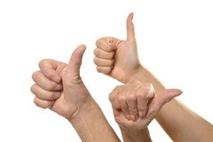 Ok hand sign Stock Photography