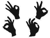 OK hand sign vector Royalty Free Stock Photos