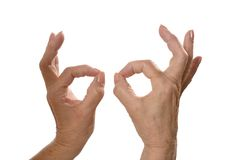 Ok Hand signs Royalty Free Stock Photos