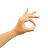 Ok hand symbol. Isolated on white Royalty Free Stock Photo