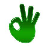 OK hand symbol. Logo OK hand symbol, withe isolated royalty free illustration