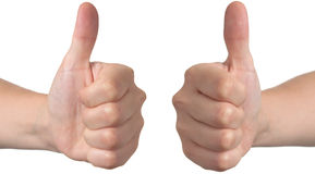 Ok hand thumbs up Royalty Free Stock Images