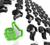 Ok hands sign. 3d image of ok hands sign stock illustration