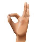 Ok icon. Ok figure icon, hand isolated on white background, vector illustration Royalty Free Stock Image