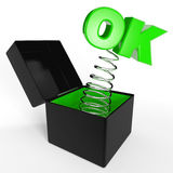 OK. Jack-in-the-Box Royalty Free Stock Image