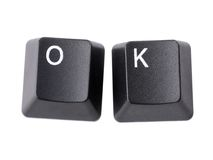 OK keys Royalty Free Stock Image