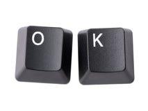 OK keys Royalty Free Stock Image